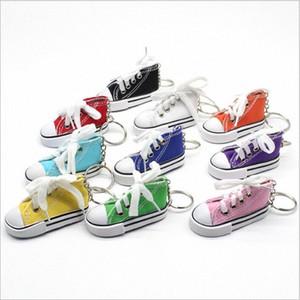 Sapatas de lona Chaveiros Sapatilha Tênis Chaveiro Shoe 3D novidade Casual Shoes Chaveiro Sapatos coloridos Titular presentes bolsa pingente B4 mMVN #