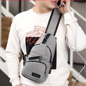 Male Shoulder Bag USB Charging Crossbody Bags Men Anti Theft Chest Pack School Short Trip Messengers Bag Single Strap Back Bag