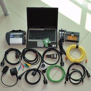 2в1 Mb Star C4 Диагностика Compact 4 Sd C4 Для Bmw Icom A2 + Laptop D630 4g Hdd 1TB Win7 Готов к использованию ноутбука Laptop диагностический инструмент Diag jsRE #