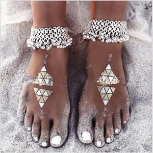 YstPb Jóias nacionalidade Grupo exagerada tornozeleira estilo pequenas borla das mulheres exagerada nacionalidade Sino étnico Jewelry Group ZEMQY étnica
