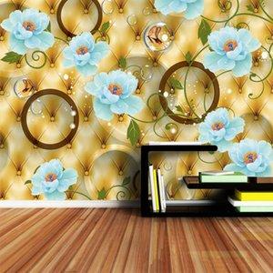 Rolls içinde Walls için Resimleri Foto Wallpaper Duvar Kağıtları Kağıt Ev Dekorasyonu 3 d Salon Avrupa Luxury Çiçekli Resimler üzerinde 3d