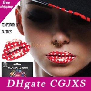 Женщины губ Art Временные татуировки наклейки Передает Fancy платье Материал бумаги, макияж безопасным и не отравляющие .Lip тела