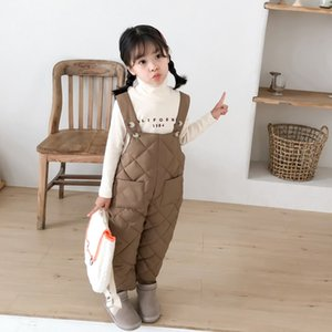 warm thermal cotton padded kids overall boys girls winter pants children's clothing