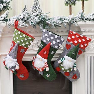 Desenhos animados Papai Noel de Natal Meias Moda Grande Capacidade presente doces Sacos personalidade criativa Indoor Outdoor Decorações de Natal