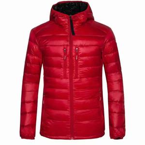 Mens Stylist cappotto del rivestimento Foglie Stampa Parka Inverno MenWinter piuma Cappotto Giacca piumino d'oca bianca del cappotto del rivestimento di formato M-3XL 7696