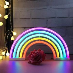 Cute Rainbow Neon Sign,LED Rainbow Light Lamp for Dorm Decor,Rainbow Decor Neon Lamps,Wall Decor for Girls Bedroom,Christmas