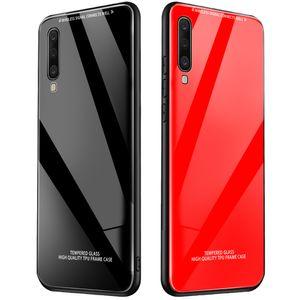 Verre Trempé cas Retour de téléphone cas pour OPPO A9 A5 2019 A11X RENO 2 2Z ACE Realme 5 pro C2 Q