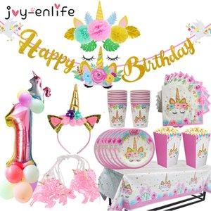 Joy Enlife Unicorn Stati partito tovaglioli usa e getta che pendono dal compleanno decorazioni doccia bambino