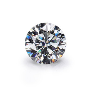 Ventas moissanites piedra floja IJ redondas de color 6.0mm corte brillante Moissanites Syntheti diamantes piedra de alta calidad S923