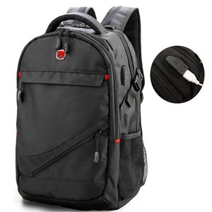 Wholesale Swiss Army Knife Backpack Mens Casual Gift Backpack Custom Usb17 Inch Business Computer Bag Travel Bag
