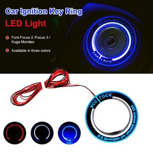 OLOMM Car ignition key ring led light decoration sticker For auto accessories For Ford Focus 2 Focus 3 Kuga Mondeo