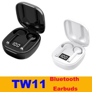 TW11 Universal TWS Earphones Wireless BT V5.0 HiFi Bass Sound Earbuds Digital Display Touch Control with Portable Charging Box Headphones