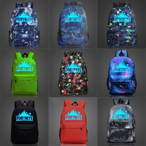 GUSURE Leinwand Fortnite Fortress Nacht Luminous Rucksack Männer WomenHigh Middle School Taschen für Jugendliche Laptop Casual Travel Fortnite Fort # 232