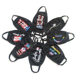 Réutilisable Mode Masques Face Femmes Hommes Lavable États-Unis drapeau de l'Amérique Masques Designer d'impression noire doubles couches Facemask CARTOON bouche Couvre D81404