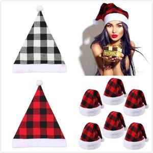 Santa Hat Winter Warm Christmas High-Grade Plush Adult Hat Thickening Soft Plush Christmas Hat Xmas Ornament Decoration
