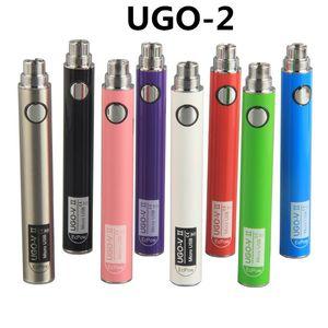 Mikro USB Yağ Kartuşları için 510 Şarj ile 900mAh UGO-V II 2 650mAh Vape Kalemler Pil Elektronik Sigaralar 510 Konudaki ecigs vape pil