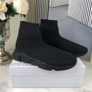 Mens Socks Sneakers calçados casuais Triplo Speed Trainer Mulher Sapatinho Shoe Bule Preto Vermelho Branco Plano Moda Chaussures Plataforma Sneakers