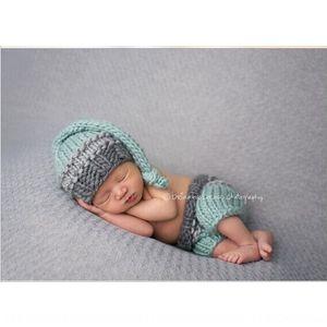 محبوك قبعة من الصوف ذيل طويل صناعة يدوية قبعة قبعة الطفل قبعة طفل اليدوية محبوك UNNj5