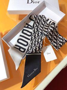 Марка шелкового галстука мода классического женский 100% шелк голова бренд волос роскошного дизайн шарфа небольшой лента печатной шелковый шарф 120 * 8 см Q3