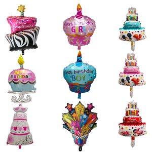 1pc dos desenhos animados Espanhol Festa de aniversário balões bebê bolo balões Decoração Atacado Crianças Brinquedos Bola de ar inflável