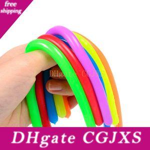 100pcs Fidget abreagir descompressão flexível corda Glue Noodle Cordas 18 * 1cm Tpr Hyperflex elásticos corda de néon Slings Brinquedos
