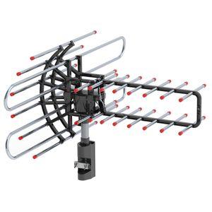 Definición de alta TV Antena exterior 360 ° Rotating UV de doble segmento 174-860MHz amplificación de señal de TV de la antena con el accesorio bolsa