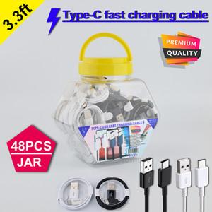 быстрый зарядный кабель типа С USB провод с пластиковой банкой 3A Максимальной поддержки быстрой зарядкой для S8 S10 S20 P40 все смартфон высокого качества 3.3ft кабеля
