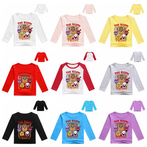 New Boys Clothing Kids Long sleeves T-shirt Five Nights at Freddy Game FNAF T-shirt For Boys Girls Tees Cotton Tops Kids clothes