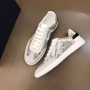 2020 pareja de diseñadores de zapatos comodidad tendencia B01 ZAPATO de cuero blanco y negro ternero Referencia: zapatos 3SN225XZU_H069 Lefu