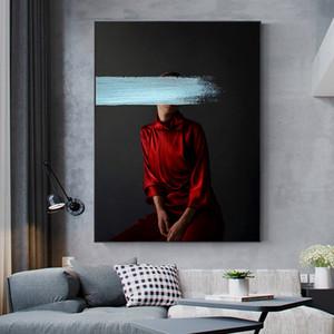 DDHH Wall Art Canvas Şekil Salon Ev Dekorasyonu yok Çerçevesi için Duvar Resmi Güzellik Print Boyama