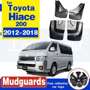 Mud Flaps 4PCS / SET splash guarda para Toyota Hiace Series H200 2012-2018 Mud Flaps Dianteiro Traseiro