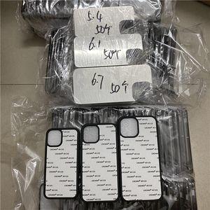ل iPhone 12 Case 2D التسامي TPU + حقيبة مطاط الكمبيوتر مع أوراق الألومنيوم فارغة لمدة 5.4 6.1 6.7 بوصة لطباعة نقل الحرارة ديي