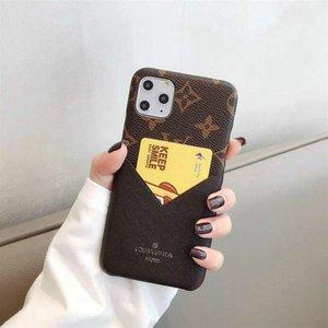 Casi di lusso del telefono per Iphone 11 Pro Max 7 8 più Cuoio Max XR moda X xs con il sacchetto della carta di trasporto 10