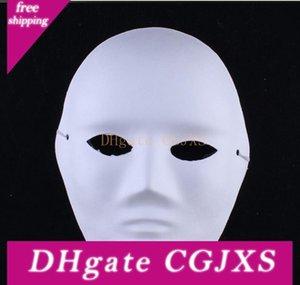 Cadılar Bayramı Masquerade Partisi Cosplay maskeler Boş Yüz Maskeleri İçin Çevre Dostu Diy Kadın Erkek Beyaz Yüz Maskeleri El Boyalı Suit