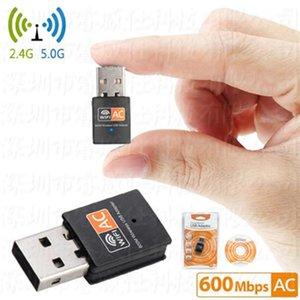 600Mbps Usb Wifi adaptateur Dual Band 2 .4g / 5GHz Rtl8811cu carte réseau sans fil Mini Lan 600m Wi -Fi adaptateurs 802 .11ac Ethernet Récepteur