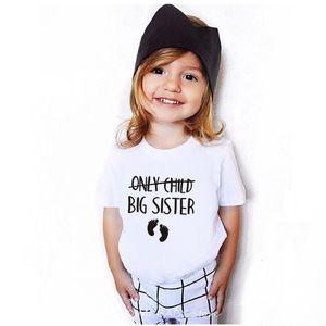 Only Child Big Brother / Sister Gelegenheits Tees Schwangerschafts-Mitteilung T-Shirt Kinder Lustige kurze Hülsen-Shirt-Kind-Kleinkind-Be