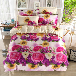 wholesale Luxury high-quality Soft comfortable 3d jacquard King size Wedding gift 1*flat bed linen 2*pillow cover 1*Quilt cover 15