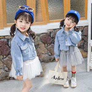 Дети Братц Детская одежда Весна Осень с длинным рукавом партии принцессы платья + Джинсовые куртки 2pcs для детей Девочек Одежда