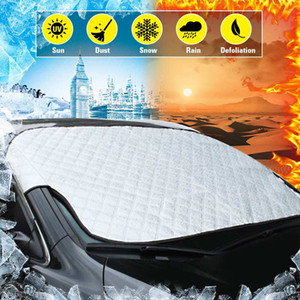 Automobiles Car Front Windshield Sunshades Sun Shade Snow Shield Snow Cover Fit 4 Seasons All Weather Universal Window Protector