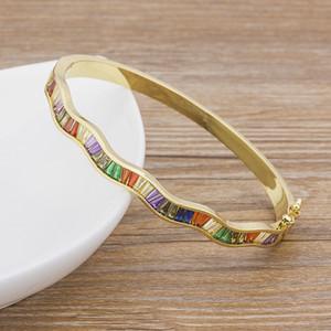 Prix usine cristal de luxe en perles Bracelet Bracelets pour les femmes Mode Bijoux Cuivre Zircon Accessoires Bangle Cadeau