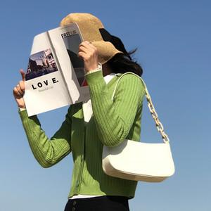 Fransız Olmayan Yaygın Tasarım PU Çanta Parlak Katı Renk Yüz Çubuk Çanta Koltukaltı Çanta Yaz Hipster Omuz Çantası Özel