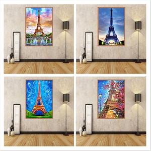 5D diy diamond painting full drill scenic paris tower tower cross stitch kit mosaic decoration home decor 0922