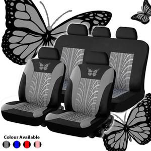 مقعد سيارة عامة تغطية مجموعة الفراشة نمط مقعد التطريز السيارات تغطية مجموعة كاملة زينة الداخلية السيارات