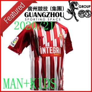 20 21 Sporting Gijón 2020 ALVARO KINDER Djuka CARMONA Aitor G. JS BABIN PEREZ M.VALIENTE Cofie camiseta de Trikots GIJÓN Fußball fútbol