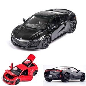 01:32 Honda-Acura NSX modelo Diecasts Veículos Car Pull presentes Ba piscando para crianças Boy adereços de trânsito Toy