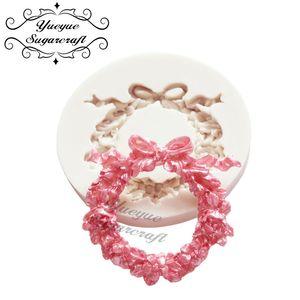 Yueyue Sugarcraft de la pasta de azúcar flor de silicona molde de pastel de chocolate molde de la decoración de herramientas