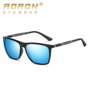 Polarized Mens Sun Sun Square Aluminum Aoron Leg Men Sunglasses Mirror Magnesio Classic Glasses UV400 Eyewear 387 MXIFC