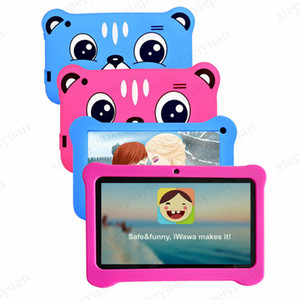 2020 7 inch Q08 Capacitive Allwinner A50 Quad Core Android 9.0 dual camera kid Tablet PC real 1GB RAM and 16GB ROM WiFi EPAD