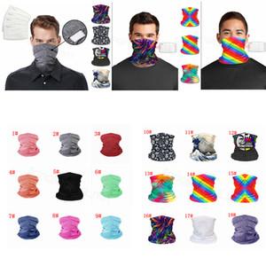 Maschere Bandane LGBT solido stampato PM 2,5 Maschera filtro esterna capo sciarpe Wrap Ghetta in bicicletta faccia senza saldatura sciarpa magica FFA4349