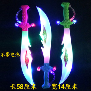 Popular Cute LED Plastics Children's Colorful Soundings Happy Mini Samurai Glowing Musical Crazy Party LED Toy